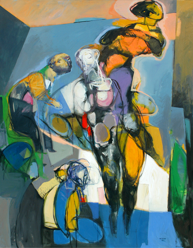 The Exiled-1, acrylic and mixed media on canvas_ 7X9 feet.JPG