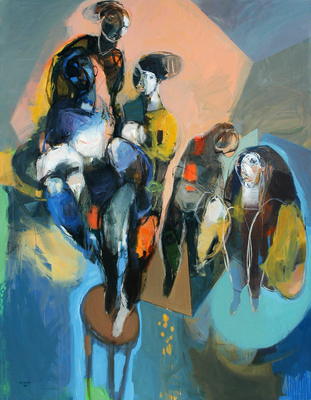 The Exiled-2, acrylic and mixed media on canvas_ 7X9 feet.JPG